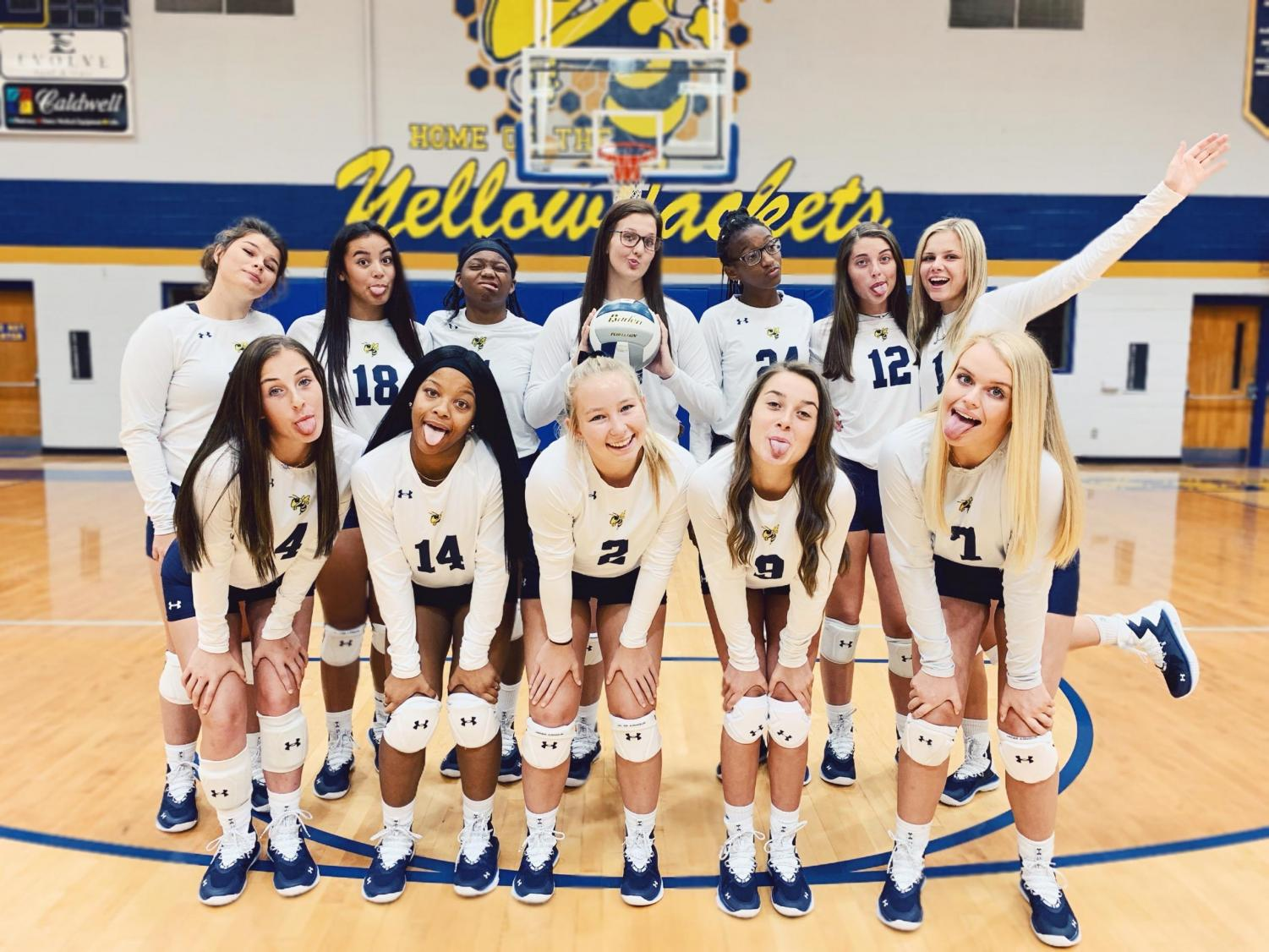 Front left to right-Emma Pagan, Londyn Mcdaniel, Claire Pribble, Mckenzie Alison, Emma McKnight,. Back row left to right-Whitley Buchanan,Stella Myers,Zahriya Baker, Kayla Lace, Darienne Carter,Emily Hale,Lauren Reed. Not Pictured Carmen Davis.
