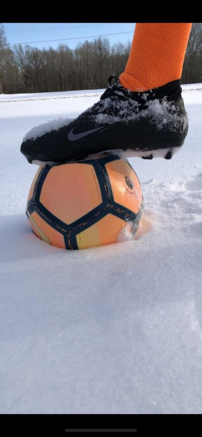 The snow storm didn't stop soccer season!