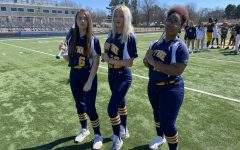 In this picture is WHS softball player Jasi Carns, Sky Mcdaniel, and Hope Blackman